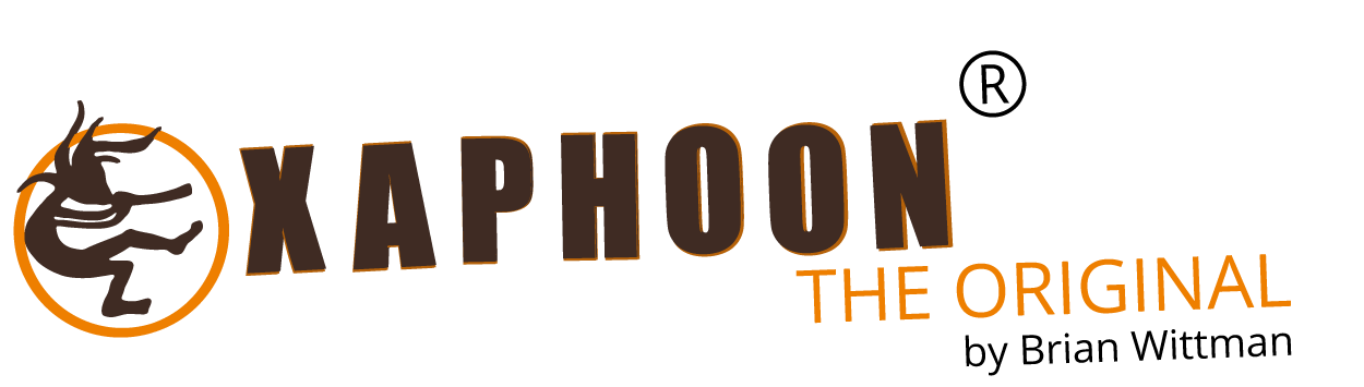 Logo Xaphoon ( Pocket Sax ) Original english